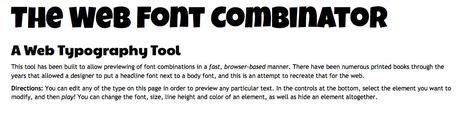 The Web Font Combinator & Typography Tool | Web y grafico | Scoop.it