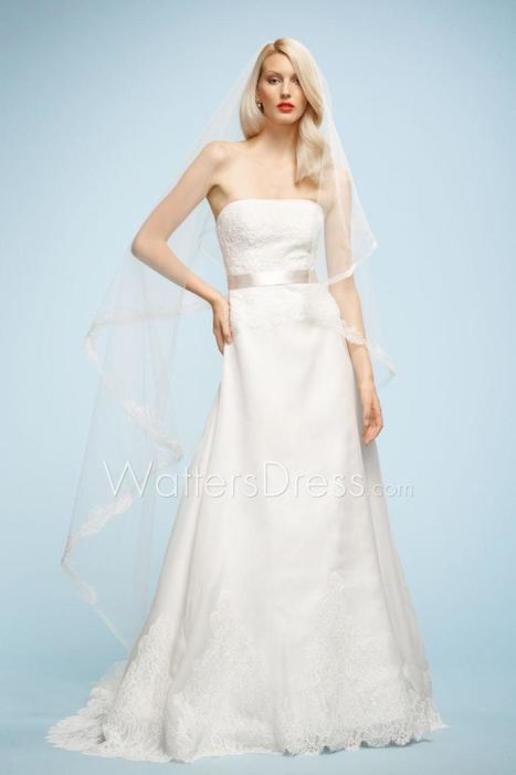 New Designer Strapless A-line Organza Cathedral Train Wedding Dress | wedding dresses collection | Scoop.it