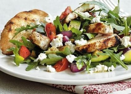 Grilled chicken and vegetable salad | Snakes | Scoop.it