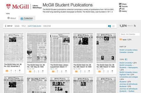 New McGill Student Publications collection up at the Internet Archive | The Dark Room | Researching Genealogy Online | Scoop.it