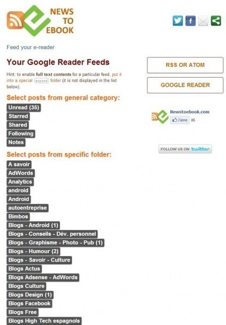 News to Ebook : création d'un e-book depuis Google Reader   RSS Circus : veille stratégique, intelligence économique, curation, publication, Web 2.0   Scoop.it