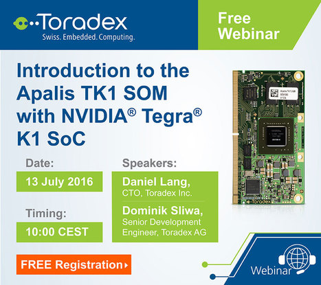 Introduction to the Apalis TK1 SOM with NVIDIA Tegra K1 SoC | Toradex Computer Modules | Scoop.it