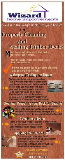 Properly Cleaning and Sealing Timber Decks | Wizard Home Improvements | Scoop.it