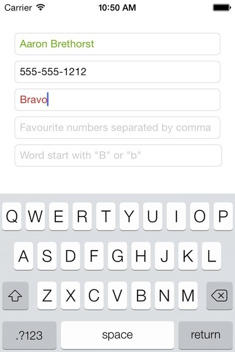 TSValidatedTextField for iOS - Cocoa Controls | Developpement iOS | Scoop.it