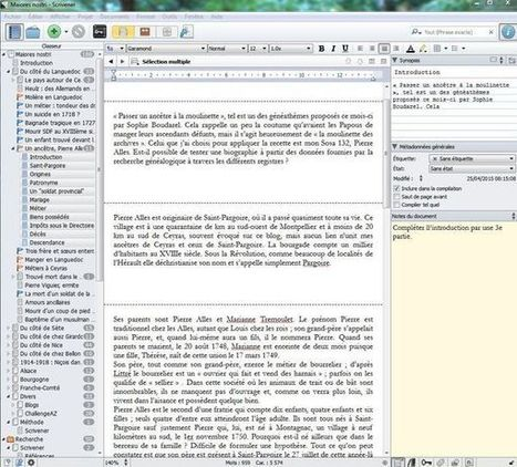 Écrire l'histoire de votre famille : connaissez-vous Scrivener ? | François MAGNAN  Formateur Consultant | Scoop.it
