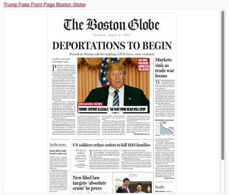 The Boston Globe published a FAKE front page imagining America under President Trump | Le BONHEUR comme indice d'épanouissement social et économique. | Scoop.it