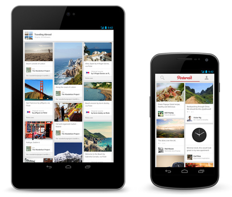 Pin on the go: Pinterest finally lands on Android & iPad | AtDotCom Social media | Scoop.it