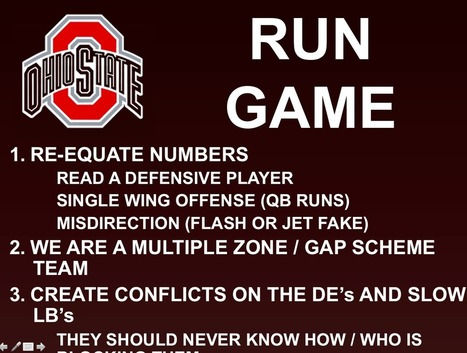 The Urban Meyer Ohio State Offense: Foundation | Eleven Warriors | Ohio state university football | Scoop.it