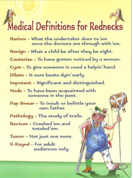 Medical Definitions for Rednecks | LOL-ROFLMAO | Scoop.it