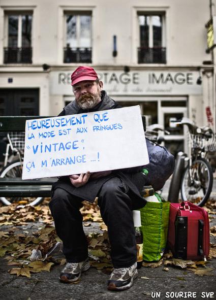 Les pancartes des SDF font de l'humour pour la bonne cause | Association solidaire, aide alimentaire , aide aux personnes en difficulté | Scoop.it