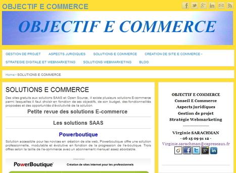 OBJECTIF E COMMERCE – SOLUTIONS E COMMERCE Petite revue des solutions E-commerce | E-commerce - commerce électronique | Scoop.it