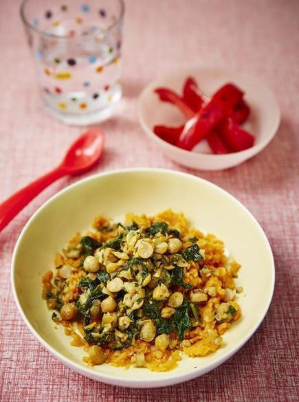 Chickpea, Spinach, Sweet Potato Mash | Baby Weaning | Jamie Oliver | My Vegan recipes | Scoop.it