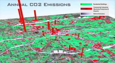 Greenhouse gas emissions mapped to street level for U.S. cities | Climate change challenges | Scoop.it