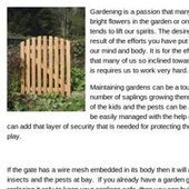 Garden Gates to Keep the Young Saplings Safe   Garden Gates   Scoop.it