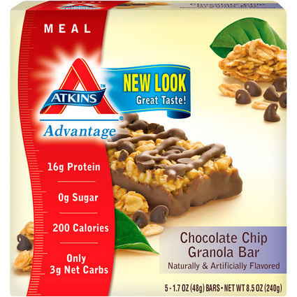 Atkins Advantage Granola Bar Chocolate Chip, 5ct | healthnews | Scoop.it