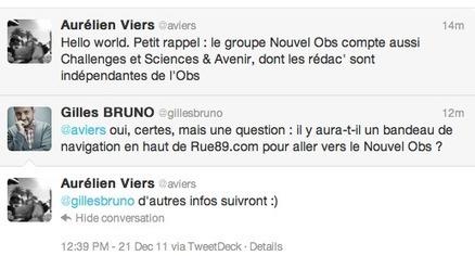 L'Observatoire des médias » Le groupe Nouvel Observateur rachète Rue89   Actualité des médias   Scoop.it