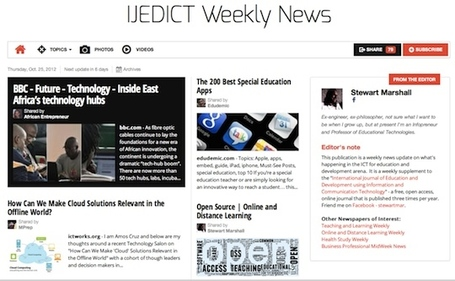 Oct 25 - IJEDICT Weekly News is out | Studying Teaching and Learning | Scoop.it