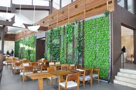 Soaring Vertical Garden Greens Al-Sultan Ibrahim Restaurant in Lebanon | Vertical Gardens | Scoop.it