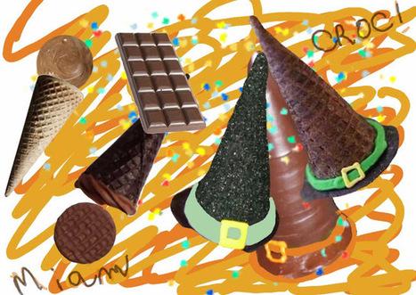 Recette de dessert au chocolat en forme de chapeau de sorcière pour Halloween | Desserts street food | Scoop.it