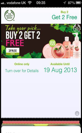 Tesco, The Body Shop tie affiliate site coupons to Passbook - Multichannel retail support - Mobile Commerce Daily | COUPONING | Scoop.it