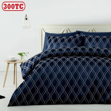 300TC Zola Jacquard Quilt Cover Set by Accessorize - Manchester House | Soft Furnishings | Scoop.it
