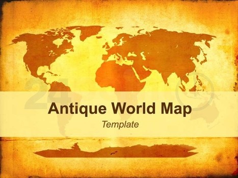 Antique World Map Template | PowerPoint - Maps, Templates, Diagrams, Illustrations and more! | Scoop.it