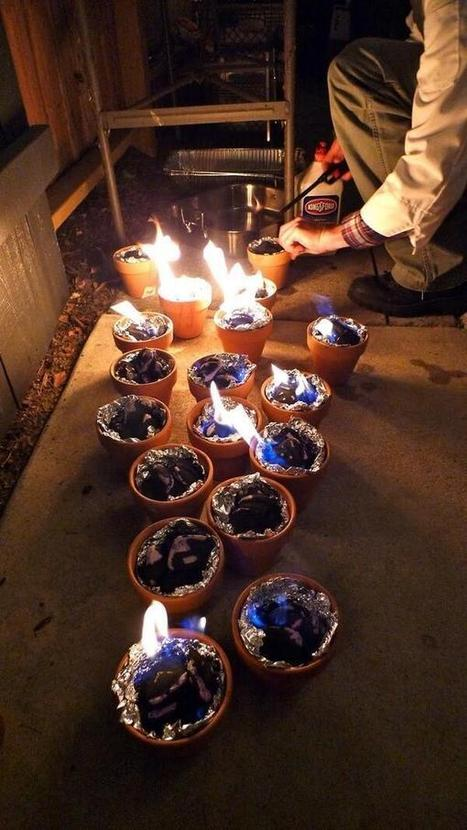 Twitter / IntThings: Light charcoal in terracotta ... | DIY Projects | Scoop.it