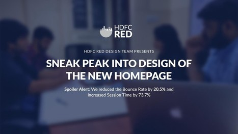 Sneak peak into Design of the New Homepage of HDFC RED – HDFC RED | Design for Successful Business | Scoop.it