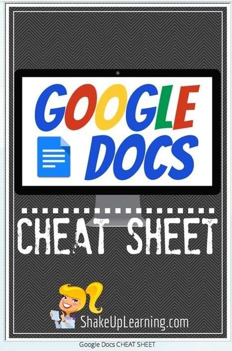 New Google Docs Cheat Sheet to Use in Class ~ Educational Technology and Mobile Learning | Educació de Qualitat i TICs | Scoop.it