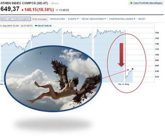 """Le meilleur de l'actualité: La bourse grecque s'effondre tel Icare """"fondu"""" sous un euro de plomb @pierrejovanovic   Toute l'actus   Scoop.it"""