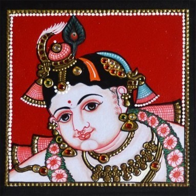 Krishna Tanjore Painting | Furniture, Handicraft | Scoop.it