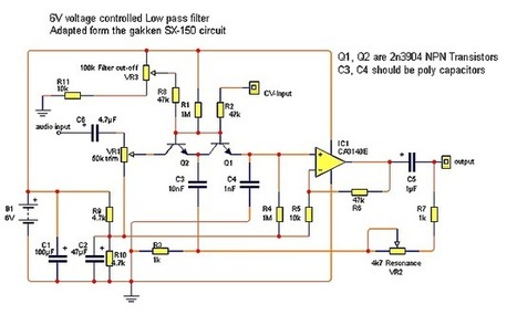 simple 6v transistor filter   DIY Music & electronics   Scoop.it