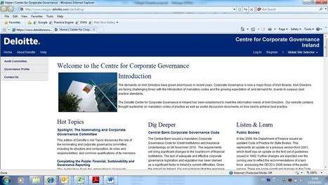 Deloitte | Corporate Governance in the not for profit sector | Corporate Governance | Scoop.it