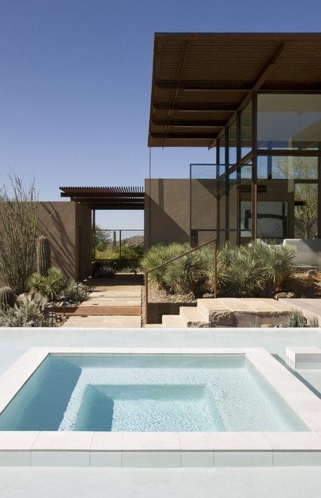 Brown Residence: Transparent beauty designed to take on the desert heat - Decoist   Design Love   Scoop.it