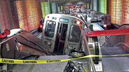 Blue Line train derails at O'Hare, climbs up escalator; 32 hurt - Chicago Sun-Times | Vision | Scoop.it