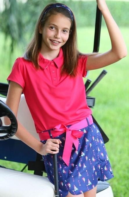 Turtles & Tees Junior Girls Victoria Golf Skorts - I Sea the Tee | Junior Golf | Scoop.it