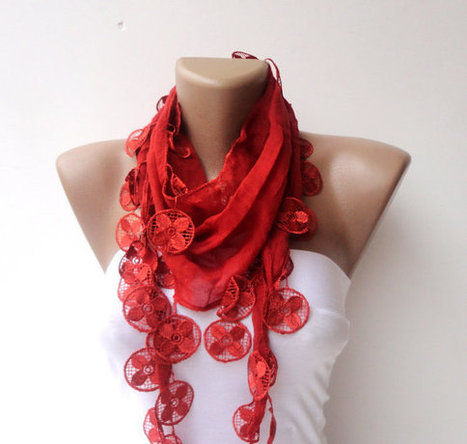 scarf , women fashion scarves , Cotton scarf ,red elegant scarf ,2013 scarf trend | Knit Ruffled Scarf,multicolor scarf,2013 NEW TREND SCARF,accessories,gifts for her,fashion,long scarf | Scoop.it