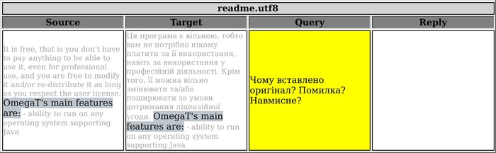"""(CAT) - """"Filtered"""" Note Export in #OmegaT 