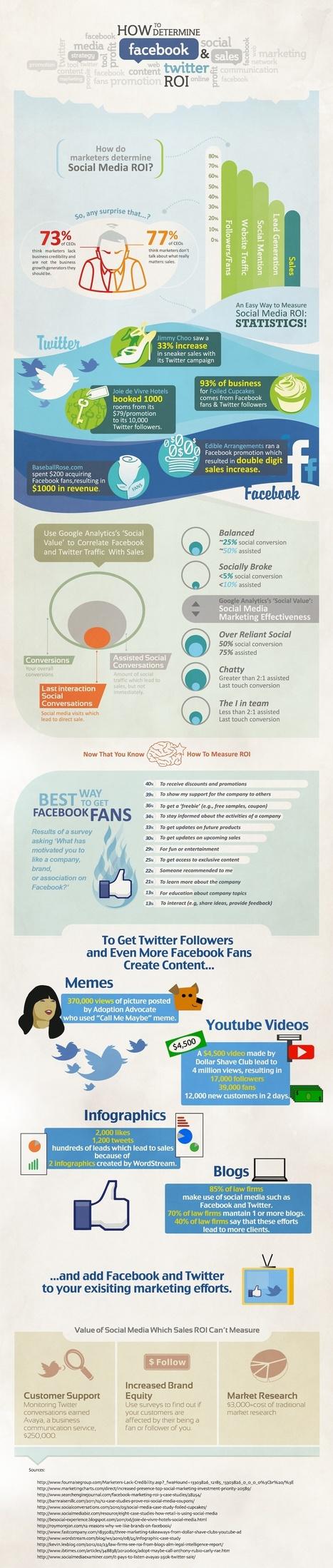 [Infographie] Comment mesurer le ROI sur Twitter et Facebook? | Mon Web Bazar | Scoop.it
