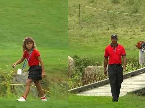 Tiger Woods And His Daughter Wore Matching Outfits During The Deutsche Bank Championship | clases golf barcelona | Scoop.it