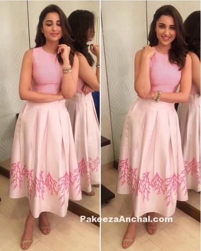 Parineeti Chopra in Sweet Pink PLAKINGER outfit | Indian Fashion Updates | Scoop.it