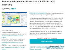Offre promotionnelle : ActivePresenter Pro gratuit ! | Actualités éducatives et pédagogiques | Scoop.it