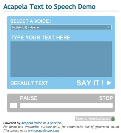 Acapelabox - Convierte texto en audio | Technology and language learning | Scoop.it