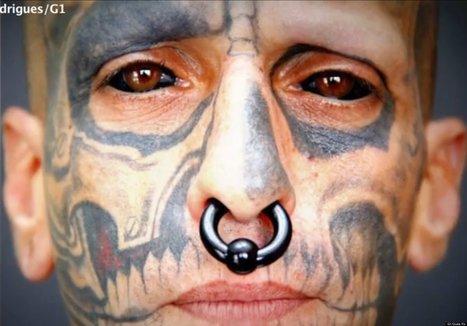 Brazilian Man Has Tattooed Eyeball | Strange days indeed... | Scoop.it
