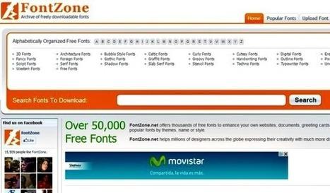 FontZone, miles y miles de fuentes de texto para descargar gratis | Las TIC y la Educación | Scoop.it