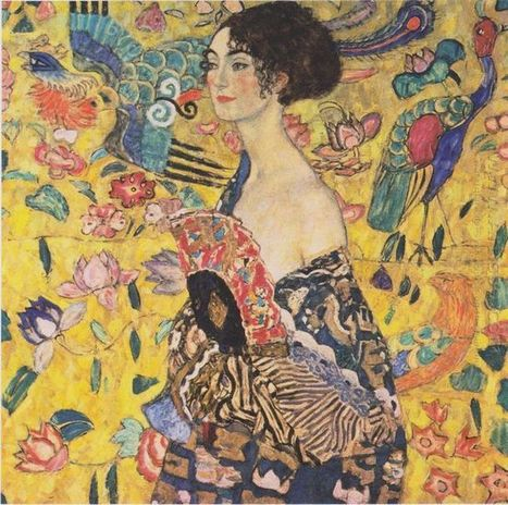 Oil painting reproduction: Gustav Klimt Lady With Fan 1918 - Artisoo.com | Creative Oil on Canvas | Scoop.it