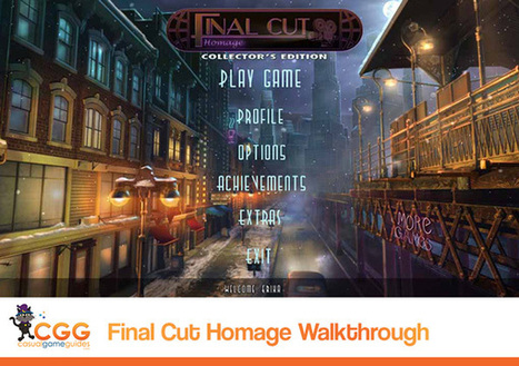 Final Cut: Homage Walkthrough: From CasualGameGuides.com | Casual Game Walkthroughs | Scoop.it