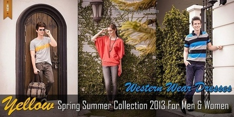 Yellow Spring Summer Dresses 2013 For Boys And Girls | Free Hot Fashion | Stylish Lawn Prints | Scoop.it
