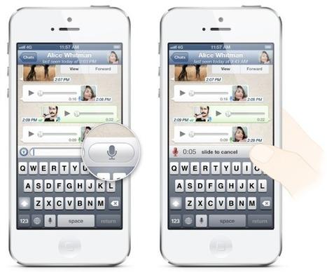 WhatsApp included voice messaging | PankajDhingra | Scoop.it