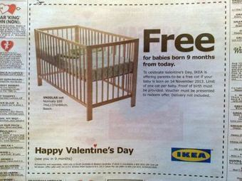 Pour la Saint Valentin, IKEA offre des lits bébé ! | Projets d'enseignes | Scoop.it